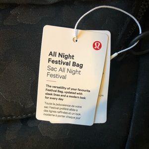 lululemon athletica Bags - Lululemon | All Night Festival Bag NWT